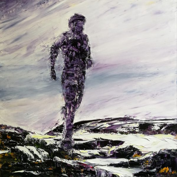 'Summit of Scarr' from a photo by Paul Daly 40x40cm