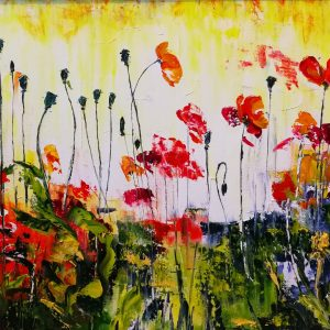 Poppy Reflections (1) 42x62cm