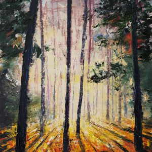 Autumn Light, The Pine Woods 50x70cm