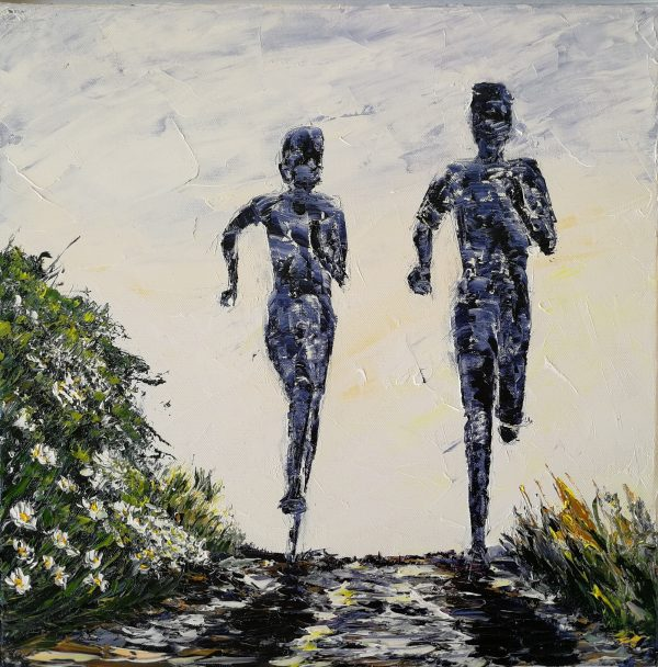 On The Trails (daisy) 40x40cm