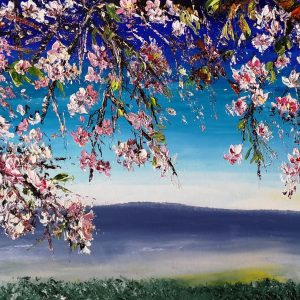 The Almond Orchard At Hoya Buena 80x30x4cm (box canvas)