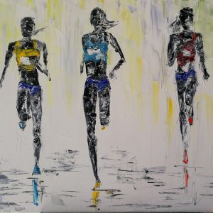 The Three Marathon Runners 38x47cm