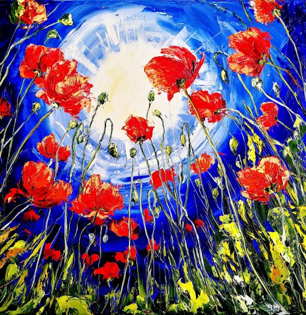 Reach for the Sun (poppy) 40x40cm
