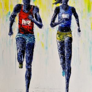Sprint Finish 50x70cm