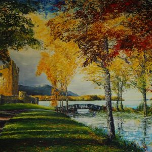Ross Castle In Autumn 120x150cm