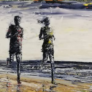 The Beach Runners 28x70cm