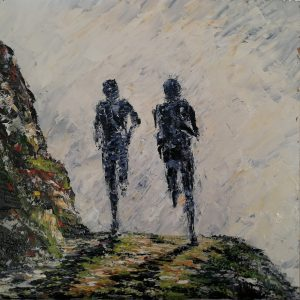 The Mountain Runners 40x40cm
